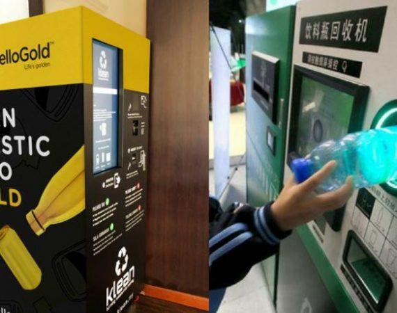 In Malesia: oro in cambio di plastica da riciclare.